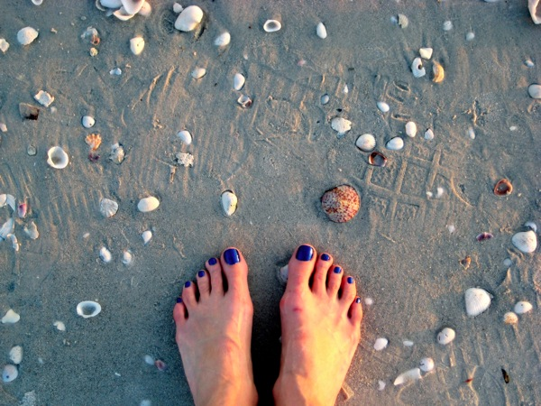 Sanibel toes in the sand