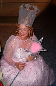 Carole as Glenda the Good Witch