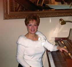 Carole at the piano