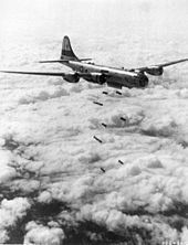 A B 29 Superfortress bombers unloading its bombs